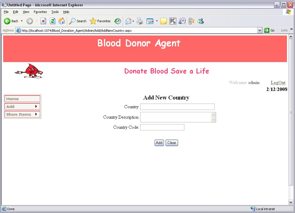Android Based Blood Bank Network System Eziline Software