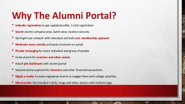 Online Alumni Portal Eziline Software House Best