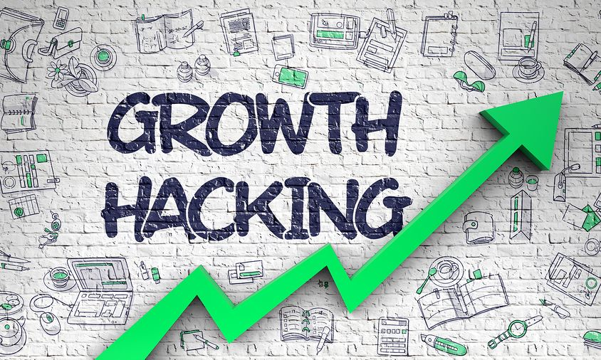 Growth Hacking - Business Concept With Hand Drawn Icons Around O