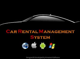 Rent A Car System Management Application