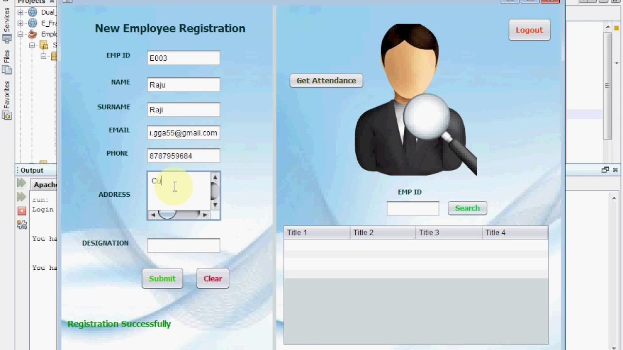 Employees Attendance System Via Fingerprint Eziline