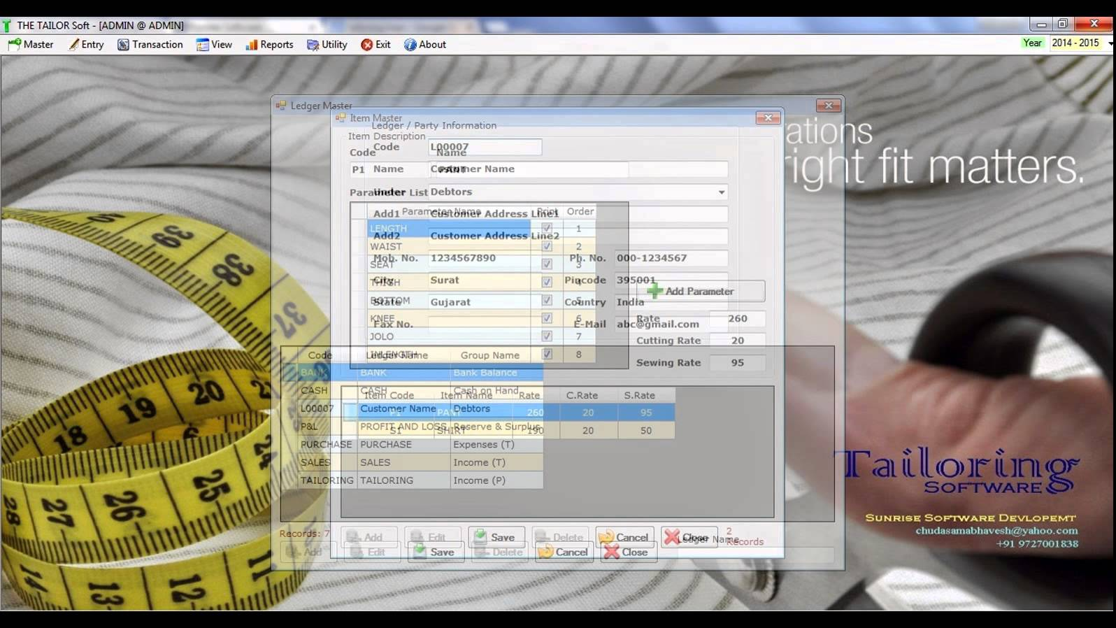 tailoring shop management system project documentation